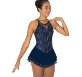 Mörkblå axelbandsklänning
