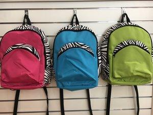 Ryggsäck med zebramönster (2 olika modeller)