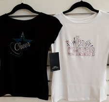T-shirt med cheerleadingtryck
