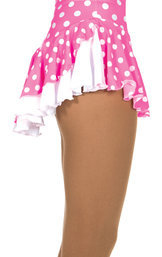 Mönstrad kjol i rosa med vita prickar