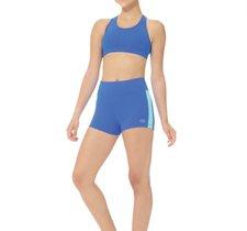 Blå shorts i funktionsmaterial