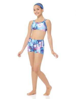 Mönstrade shorts i funktionsmaterial