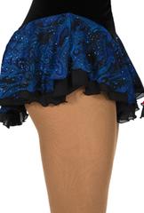 Blå kjol med paislymönster