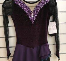 Långärmad lila klänning från elitexpression