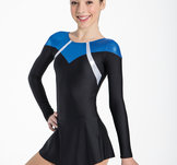 Gymnastikklänning i svart och blått