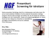 Presentkort NGF - screening och program och smågruppsträning