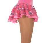Blommig kjol med underkjol i rosa