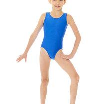 Ärmlös gymnastikdräkt i blått