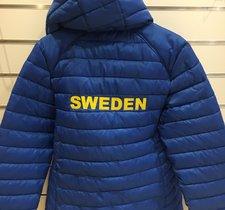 Varm jacka med Sweden-broderi