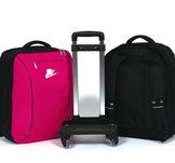 Ryggsäck med rullställning i rosa