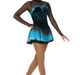 Svart/turkos långärmad klänning