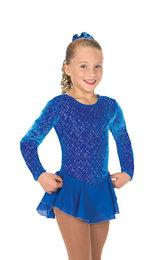 Blå sammetsklänning med silverglitter