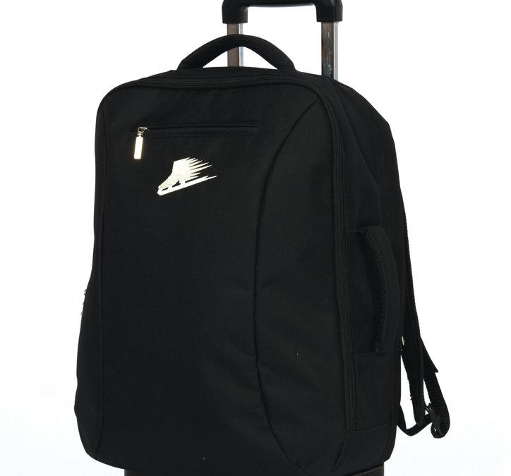 Ryggsäck med rullställning i svart