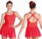Röd klänning med korsade axelband