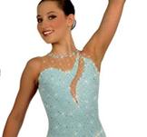 Ljusblå ärmlös klänning med swarovskikristaller