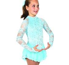 Isblå glittrig sammetsklänning