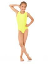 Ärmlös gymnastikdräkt i gult